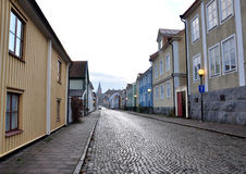 Gator i Västervik, Sverige, Europa royaltyfria foton