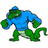 Gator Mascot Extreme Stock Photo