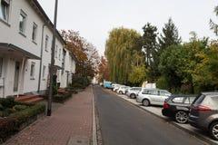 Gator med parkering Arkivbilder