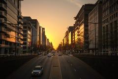 Gator och arkitektur av Washington DC Royaltyfri Foto