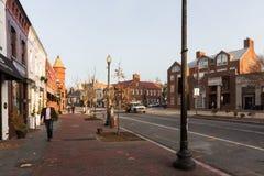 Gator och arkitektur av Washington DC Arkivbilder