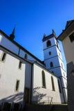 Gator och byggnader från Aarau, Schweiz Arkivbild