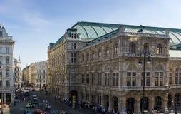 Gator och byggnader i Wien, Österrike 2016-10-01 Arkivbild