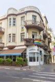 Gator och hus i Tel Aviv Fotografering för Bildbyråer