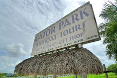 Gator park. At florida everglades Stock Image