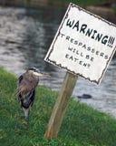 Gatorland Eindringlinge gegessenes Zeichen lizenzfreie stockbilder