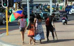 Gatorna av Cape Town Arkivbilder
