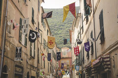 Gatorna av den gamla italienska staden Arkivbilder