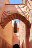 Gatorna av den gammala medinaen i Marrakesh, Marocko Fotografering för Bildbyråer