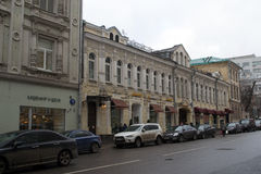Gatorna av Moskva Royaltyfri Foto