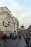 Gatorna av Moskva Fotografering för Bildbyråer