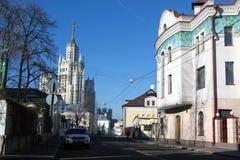 Gatorna av Moskva Royaltyfria Bilder