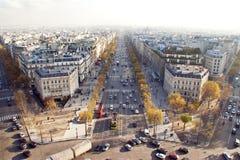 Gatorna av Paris Royaltyfri Fotografi