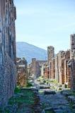 Gatorna av Pompeii, Italien Arkivfoton