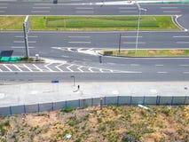 Gatorna av Shenzhen, Kina, blick ner från luften Arkivbild