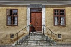 Gatorna av Visby, Sverige arkivbild