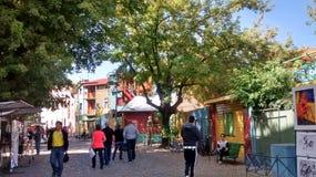 Gatorna runt om Caminito Royaltyfri Bild