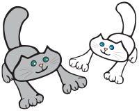 Gatos ilustración del vector