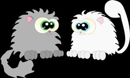 Gatos 3 de la historieta libre illustration