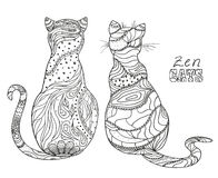 gatos Arte do zen Imagens de Stock