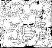 Gatos blancos en el negro, VECTOR Imágenes de archivo libres de regalías