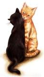 Gatos blandos ilustración del vector