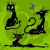 Gatos bonitos. ilustração do vetor
