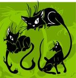 Gatos bonitos. ilustração stock