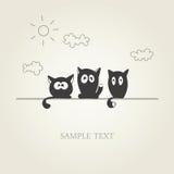 Gatos bonitos ilustração do vetor