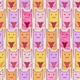 Gatos bonitos com corações loving Fotografia de Stock