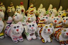 Gatos de cerámica Fotografía de archivo