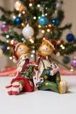 Gatos de Christmass Fotografía de archivo libre de regalías