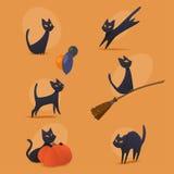 Gatos de Halloween Foto de archivo libre de regalías