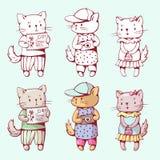 Gatos de la historieta Foto de archivo libre de regalías