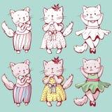 Gatos de la historieta Fotografía de archivo libre de regalías