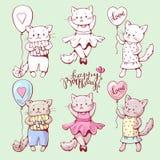 Gatos de la historieta Imagen de archivo libre de regalías