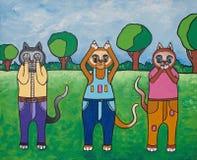 Gatos de la sabiduría Imagen de archivo