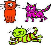 Gatos desaliñados Imagen de archivo