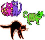 Gatos desalinhado Foto de Stock