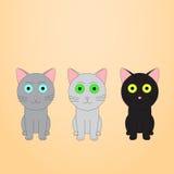 Gatos do Anime Fotografia de Stock Royalty Free