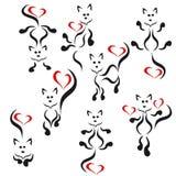 Gatos do logotipo. Imagens de Stock Royalty Free