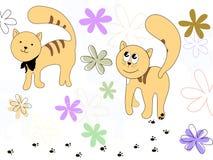 Gatos doces Ilustração Royalty Free