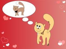 Gatos doces no amor Ilustração do Vetor