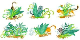 Gatos dos desenhos animados Imagem de Stock