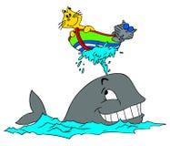 Gatos e baleia Fotos de Stock