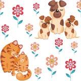 Gatos e cães Imagem de Stock