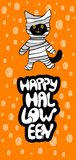 Gatos em trajes de Dia das Bruxas Ilustração bonito dos desenhos animados ilustração do vetor