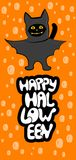 Gatos em trajes de Dia das Bruxas Ilustração bonito dos desenhos animados ilustração royalty free