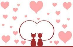 Gatos en amor Fotografía de archivo