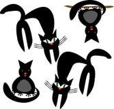 Gatos en fondo aislado Libre Illustration